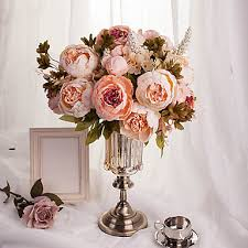 artificial peonies 1 bouquet artificial flowers 8 heads artificial peonies silk