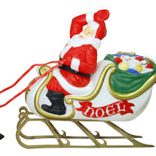 outdoor santa with sleigh and reindeer mould figure