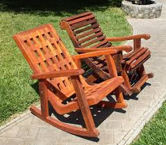 Wooden Rocking Chair Outdoor Outdoor Wooden Rocking Chair With Built In Lower Back Support