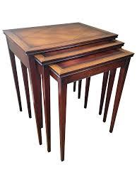 henredon heritage nesting tables set of 3 chairish