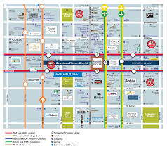 Portland Light Rail Map by Pioneer Courthouse Square Transportation Pioneer Courthouse Square