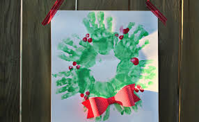 hand paint christmas wreath christmas craft daily vlog 301