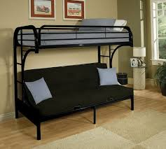 Bunk Beds  L Shaped Loft Bed With Futon L Shaped Bunk Beds With - Full size bunk bed with futon on bottom