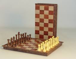 folding wood magnetic chess set newcentco board games