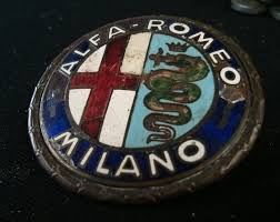 alfa romeo logo original iron glazed emblem badge for alfa romeo giulietta