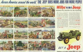 wwii jeep willys willys jeep cj2a advertising