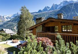 luxury ski chalets in chamonix ice and orange home