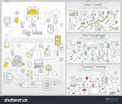 design management careers doodle line design web banner templates stock vector hd royalty