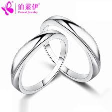 love rings silver images Ley park simple love couple rings 925 sterling silver rings for jpg