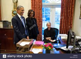 Barack Obama Oval Office Us President Barack Obama First Lady Michelle Obama And Personal