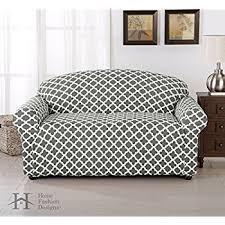 grey twill sofa slipcover amazon com home fashion designs form fit slip resistant stylish