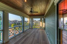Beadboard Porch Ceiling by Awesome Screened Porch With Wood Decking And Stained Beadboard