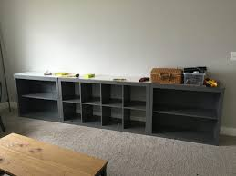 How To Paint Ikea Furniture by Ikea Hack Expedit Into Long Storage Unit Honeybear Lane