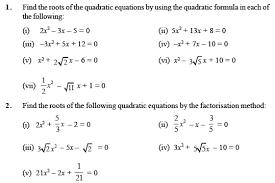class 10 important questions for maths u2013 quadratic equations