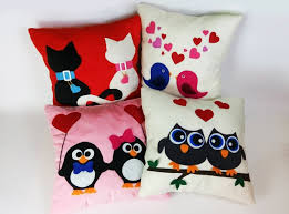 Valentine Home Decor Felt Fleece Stuffed Pillow Owls Cushion Home Decor Valentine U0027s Gifts