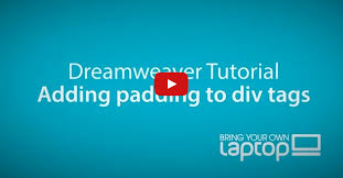 html div tag dreamweaver cc tutorial 31 adding padding to an html div tag