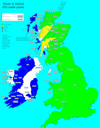 Map Of The British Isles Richard Webb British Isles 600 Meter Prominence Completion Map