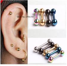 ear piercing studs retro 3mm men s stainless steel barbell ear piercing studs