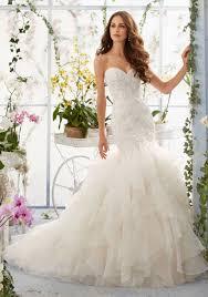 mermaid style wedding dress wedding ideas venice lace on organza mermaid style morilee