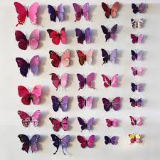 bedroom cute removable 3d butterflies wall craft decorations for full size of 3d butterflies colorful pink black purple blue wall stickers wall craft decor