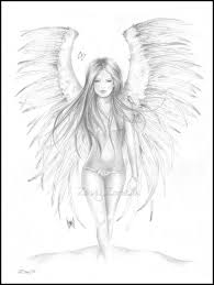 pencil drawing simple angel how to draw a guardian angel