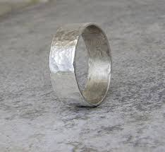 rustic mens wedding bands rustic mens wedding band hammered silver ring mens wedding ring