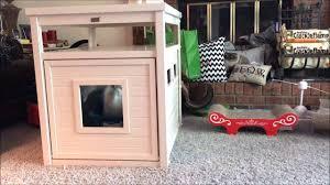 ecoflex jumbo litter loo hidden kitty litter box end table ecoflex jumbo litter loo by new age pet youtube