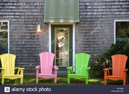 Multi Coloured Chairs by Multi Coloured Cape Cod Deck Chairs Stock Photo Royalty Free