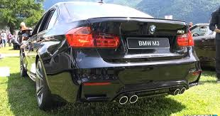 Bmw M3 2015 - stylish 2015 bmw m3 revs for the camera at villa d u0027este