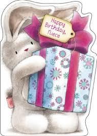 birthday cards for niece bebunni niece birthday card karenza paperie