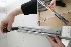 tiroir de cuisine en kit charmant meuble de cuisine en kit 2 rail et amortisseur de tiroir