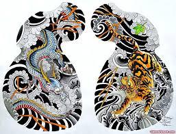 colored dragon and tiger tattoos design tattoo viewer com