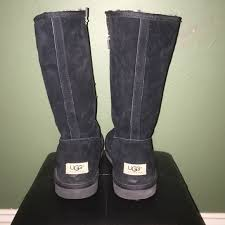 zipper ugg boots sale 70 ugg shoes black ugg boots with side zipper from