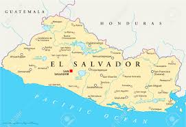 Central America Map With Capitals by El Salvador Political Map With Capital San Salvador National