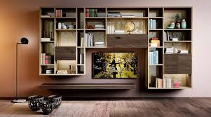 modular bookcase wall mounted contemporary lacquered wood