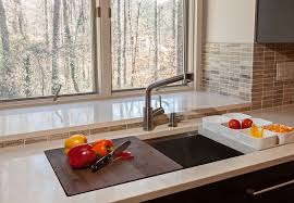 Kohler Kitchen Sinks In Contemporary Atlanta With Sink Drain Board - Kohler kitchen sink drain
