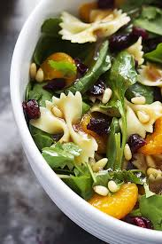 Good Salad For Thanksgiving Mandarin Pasta Spinach Salad With Teriyaki Dressing Creme De La