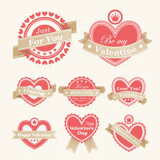 valentine labels vector free vector 4vector