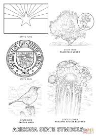 arizona state symbols coloring page free printable coloring pages