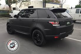 matte black range rover price range rover sport wrapped in 3m deep matte black wrap bullys