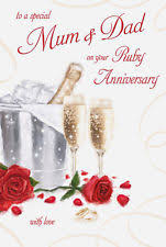 Anniversary Card For Wife Message Personalised Wedding Anniversary Card Husband Wife Mum Dad Any