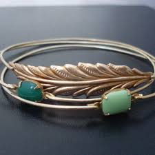 stackable bracelets woodland stackable bracelet set nature jewelry nature lover