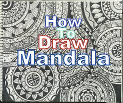play doodle draw how to draw complex mandala design for beginners easy