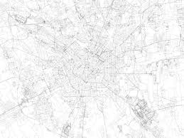 Milan Italy Map Map Of Milan Satellite View Streets And Highways Italy Royalty