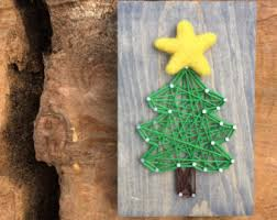 made to order christmas tree farm string art sign holiday