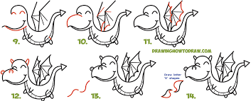how to draw thanksgiving how to draw a cute kawaii chibi dragon shooting fire with easy
