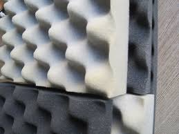 polyurethane studio soundproofing foam 10d 50d density fire