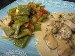 cuisiner les haricots plats moules crèmées aux haricots plats recette coquillages et