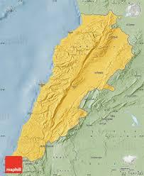 Map Of Lebanon Savanna Style Map Of Lebanon