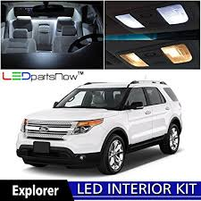 turn off interior lights ford explorer 2016 amazon com ledpartsnow 2011 2017 ford explorer led interior lights
